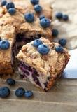 自创蓝莓蛋糕片断  免版税图库摄影