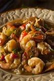 自创虾和香肠Cajun浓汤 库存照片