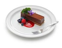 自创蛋糕的巧克力 库存照片