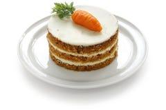 自创蛋糕的红萝卜 免版税库存照片