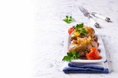 自创被烘烤的土豆 库存图片