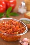 自创西红柿酱 免版税库存图片