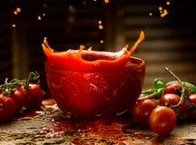 自创西红柿酱 免版税库存照片