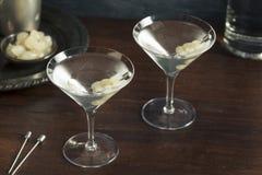自创酒醉的吉布森马蒂尼鸡尾酒 库存图片