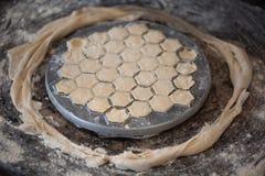 自创饺子 免版税图库摄影