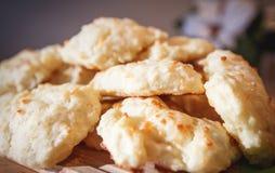 自创饼干的干酪 免版税库存照片