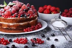 自创饼干的蛋糕 免版税库存照片
