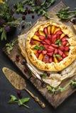 自创饼草莓 饼干用新鲜的草莓和误码率 库存图片