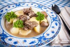 自创鹿肉蔬菜炖肉用土豆 库存照片
