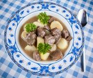 自创鹿肉蔬菜炖肉用土豆 图库摄影
