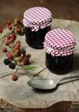 自创黑莓果酱 库存图片