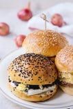 自创素食者汉堡 免版税库存照片