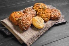 自创黑麦小圆面包 免版税库存图片