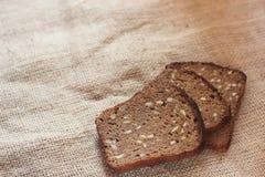 自创黑麦面包 免版税库存照片