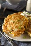 自创Boxty爱尔兰土豆薄烤饼 库存照片