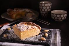 自创frangipane蛋糕 库存照片