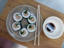 自创Paleo寿司 免版税库存图片