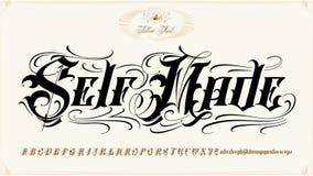 自制纹身花刺字法集合 库存图片