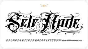 自制纹身花刺字法 免版税图库摄影