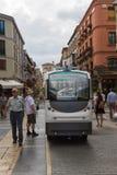 自动公路运输系统-无人驾驶的Vehic 库存照片