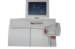 自动分析仪的血液gaz 免版税库存图片