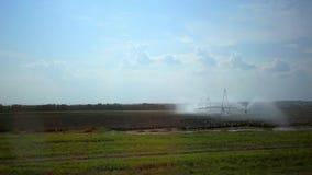 自动化的农业灌溉洒水装置 股票录像