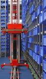 自动化的存贮机器人 免版税库存图片