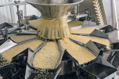 自动化的食物工厂 免版税库存图片