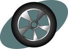 自动可用的小汽车赛轮胎卡车向量 库存图片