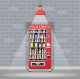 自动售货机用食物和饮料 皇族释放例证