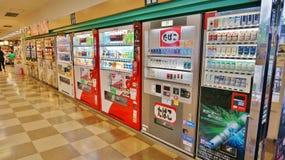 自动售货机线在日本 图库摄影