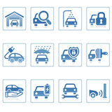 自动图标图标为万维网服务 免版税库存照片