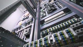 自动开关,在一个大工业电机架的保险丝 股票录像