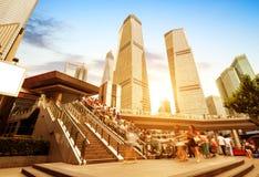 自动扶梯上海街道 图库摄影