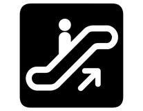 自动扶梯倒置了  免版税库存图片
