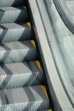 自动扶梯台阶特写镜头 免版税库存照片