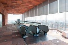 自动扶梯在博物馆MAS中在安特卫普,比利时港口  免版税库存图片