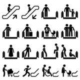 自动扶梯符号警告 免版税库存图片