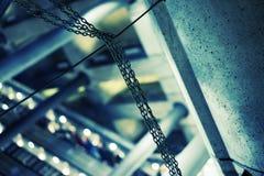 自动扶梯链子 图库摄影