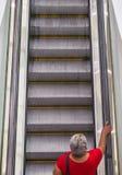 自动扶梯 上升! 库存照片