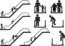 自动扶梯 库存例证