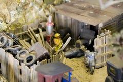 自动旧货少许维修车间围场 免版税库存图片
