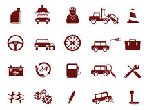自动汽车图标服务 库存照片