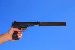 自动现有量手枪 免版税库存照片