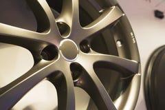 自动盘钢轮子 免版税库存图片
