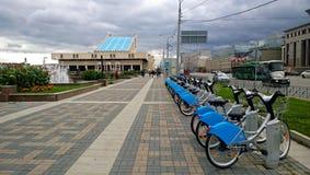 自动自行车租务终端  免版税库存照片