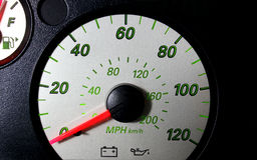 自动车速表 库存图片