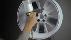 自动轮子粉末涂层  股票视频