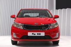 自动首演广州k2 kia轿车显示世界 库存图片