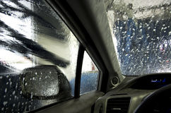 自动洗车 免版税库存照片